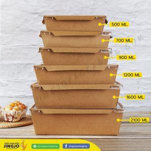 กล่องกระดาษใส่อาหาร กล่องไฮบริด กล่องกระดาษคราฟท์ ฝาใส