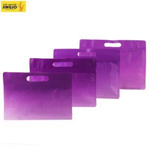 ถุงซิปล็อค ถุงกระดาษ ขยายข้าง หลากสี มีหูหิ้ว ตั้งได้ สีม่วง