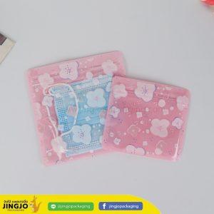 ถุงซิปล็อค ซองซิปล็อค ซองพลาสติก ลายการ์ตูน ตั้งไม่ได้ ( ดอกไม้ ชมพู )