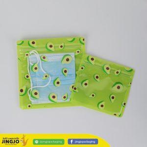 ถุงซิปล็อค ซองซิปล็อค ซองพลาสติก ลายการ์ตูน ตั้งไม่ได้ ( อโวคาโด เขียว )