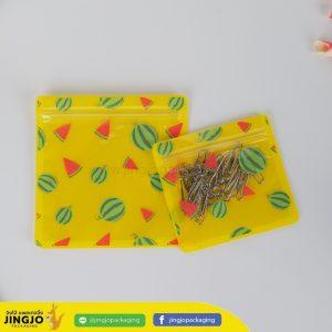 ถุงซิปล็อค ซองซิปล็อค ซองพลาสติก ลายการ์ตูน ตั้งไม่ได้ ( แตงโม สีเหลือง )