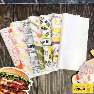 กระดาษ กระดาษห่อเบอร์เกอร์ กระดาษห่อแฮมเบอร์เกอร์ กระดาษเบอร์เกอร์ กระดาษห่ออาหาร